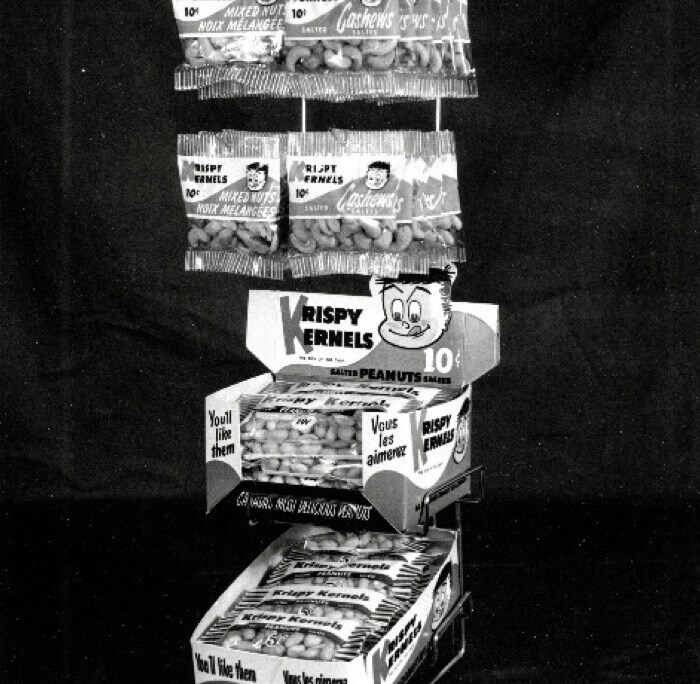 Nut display in 1953